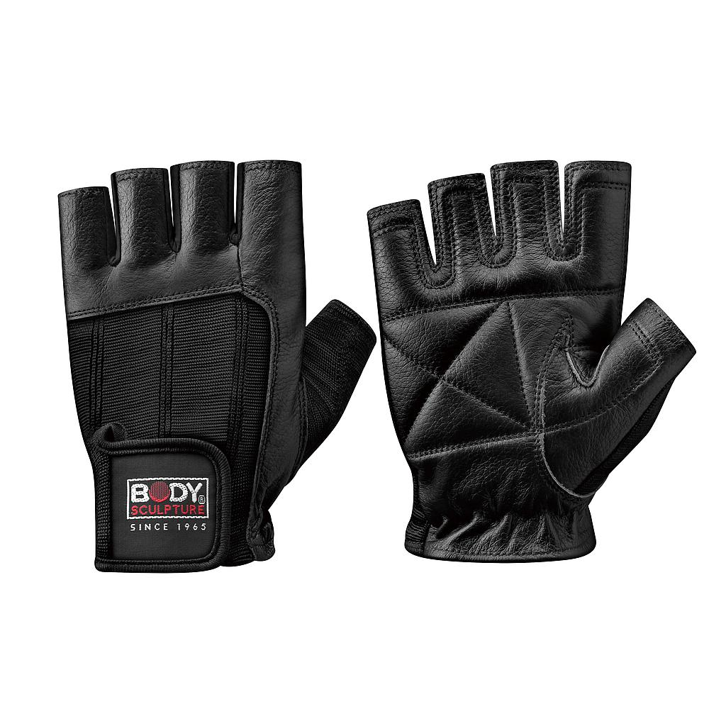 FITNESS GLOVE SPANDEX WITH LEATHER - S